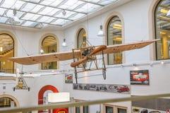 DRESDEN, DUITSLAND - MAI 2015: Vroeg Vliegtuig Bleriot XI 1909 in D Stock Foto's