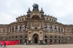 dresden duitsland Soorten de stad Historisch centrum Royalty-vrije Stock Foto