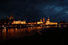 Dresden in the dusk Stock Image