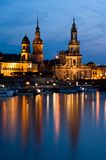 Dresden at dusk Royalty Free Stock Photos