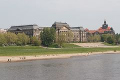 Dresden and the Elbe Stock Images
