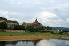 Dresden. Elbe. Travel in Germany. Dresden.  Elbe Royalty Free Stock Photo