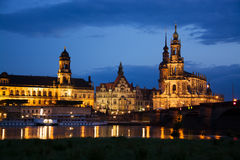 Dresden at the Elbe, Germany Stock Photos