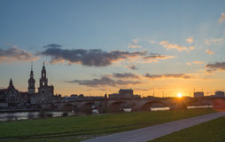 Dresden at the Elbe, Germany Royalty Free Stock Images