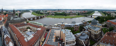 Dresden at the Elbe, Germany Stock Image