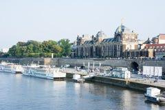 Dresden Elbe promenad Arkivbild