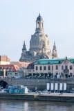 Dresden Elbe promenad Arkivfoto