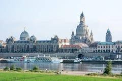 Dresden Elbe Promenade Stock Image