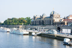 Dresden Elbe Promenade Stock Photography