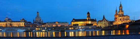 Dresden em a noite Fotografia de Stock