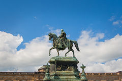 DRESDEN - equestrian statue of King John Royalty Free Stock Images
