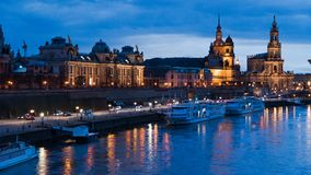 Dresden evening view of the city Royalty Free Stock Image