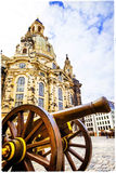 Dresden. famous Frauenkirche church. artistic picture Royalty Free Stock Images