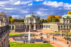 Dresden, famous Zwinger museum Stock Photos