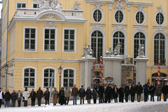 Dresden, February 13 - The human chain royalty free stock image