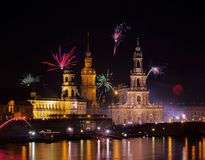 Dresden Fireworks Stock Photos