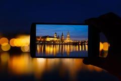 Dresden in frame Stock Image