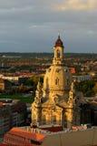 dresden frauenkirche fotografering för bildbyråer
