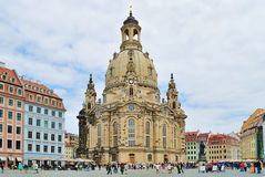 Dresden Frauenkirche. Dresden, Germany. Very beautiful and famous church Frauenkirche Stock Photography