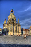 dresden frauenkirche Arkivfoto