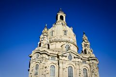 Dresden Frauenkirche (Church of Our Lady). Germany Royalty Free Stock Image