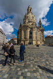 Dresden Frauenkirche (Church of Our Lady). Royalty Free Stock Photos
