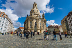 Dresden Frauenkirche (Church of Our Lady). Stock Photography