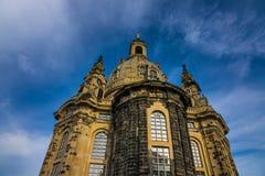 Dresden Frauenkirche in city Dresden against sky Stock Photography