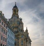 Dresden Frauenkirche in city Dresden against sky Stock Photo
