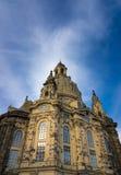 Dresden Frauenkirche in city Dresden against sky Stock Image