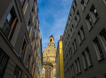 Dresden Frauenkirche in city Dresden against sky Royalty Free Stock Photography