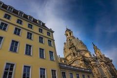 Dresden Frauenkirche in city Dresden against sky Stock Images