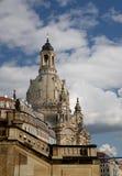Dresden Frauenkirche (formligen kyrka av vår dam) är en Lutherankyrka i Dresden, Tyskland Royaltyfri Fotografi