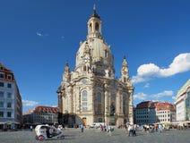 dresden frauenkirche germany Arkivfoton