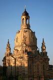 Dresden Frauenkirche (iglesia de nuestra señora) imagenes de archivo