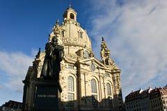 Dresden Frauenkirche (iglesia de nuestra señora) Imagen de archivo libre de regalías