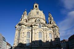 Dresden Frauenkirche (iglesia de nuestra señora) Foto de archivo libre de regalías