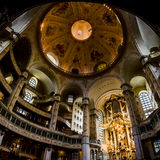 Dresden Frauenkirche Interior Architecture Ornate Decoration Rel Royalty Free Stock Photos