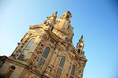 Dresden Frauenkirche (Kirche unserer Dame) stockfotos