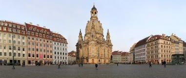 Dresden Frauenkirche (letterlijk Kerk van Onze Dame) is een Lutheran kerk in Dresden, Duitsland Stock Afbeeldingen