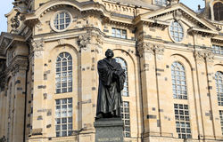 Dresden Frauenkirche ( literally Church of Our Lady) is a Lutheran church in Dresden, Germany Royalty Free Stock Images