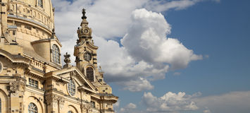 Dresden Frauenkirche ( literally Church of Our Lady) is a Lutheran church in Dresden, Germany Stock Image