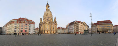 Dresden Frauenkirche ( literally Church of Our Lady) is a Lutheran church in Dresden, Germany Royalty Free Stock Image