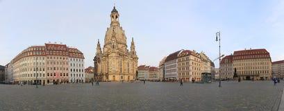 Dresden Frauenkirche (literalmente iglesia de nuestra señora) es una iglesia luterana en Dresden, Alemania Imagen de archivo libre de regalías