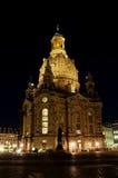 Dresden - Frauenkirche na noite Fotografia de Stock Royalty Free