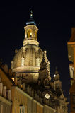 Dresden - Frauenkirche nachts Stockfotografie
