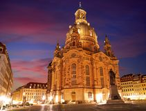 Dresden Frauenkirche church in Saxony Germany Stock Images