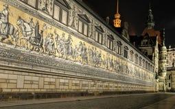 Dresden Fuerstenzug Stock Images