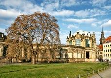 Dresden gammal byggnad royaltyfri fotografi