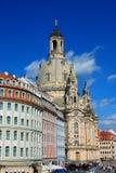 dresden German Frauenkirche w antycznym mieście Dresd - Ge Obrazy Stock